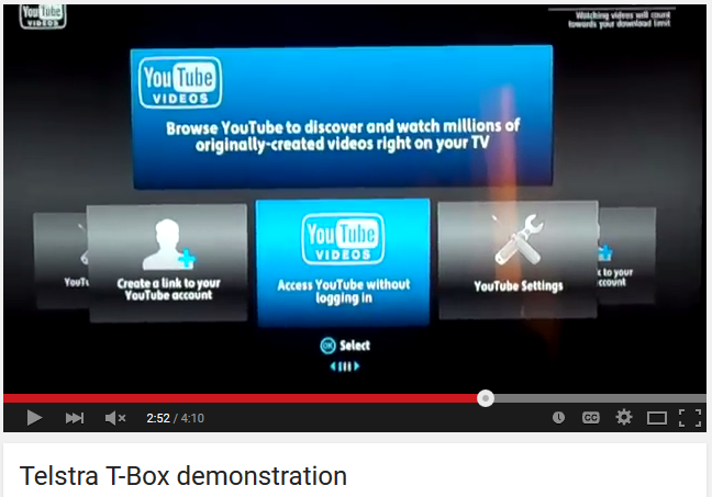 YouTube on T-Box: the way it was